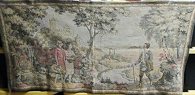 Antique Tapestry English Countryside Beautiful Pastel Colors