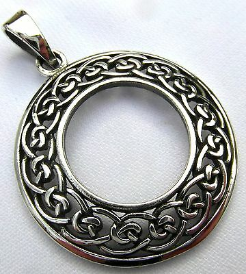 Sterling Silver (925)  Celtic  Circle  Ring   Pendant   (5 Grams)  !!    New !!