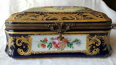 Extraordinary Dauchot Sevres Style Porcelain Box