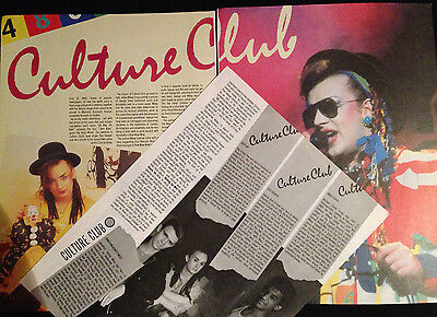 Culture Club - Original 4 Page Article From Rock Review Book 1984. Boy George