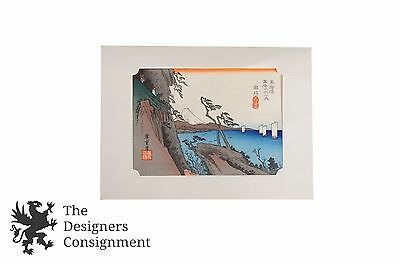 """Satta Pass at Yui"" Hiroshige Utagawa Woodblock Colored Art Print Tokaido Road"
