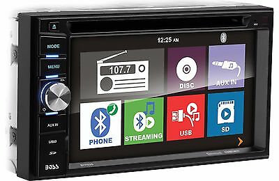 Boss Elite BV760B Double Din DVD/CD/AM/FM/MP3 /iPhone/USB/Bluetooth Receiver