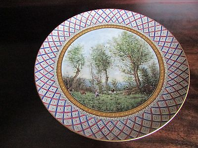 Stunning Limoges Hand Painted Plaque The Early Morning A. Felix c.1914