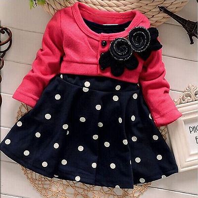 Flower Girls Toddler Princess Dress Kids Baby Party Pageant Floral Dress Clothes