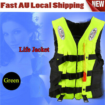 Sports M Size Green Color High Quality Adult Life Jacket Au Stock Fast Ship Ah