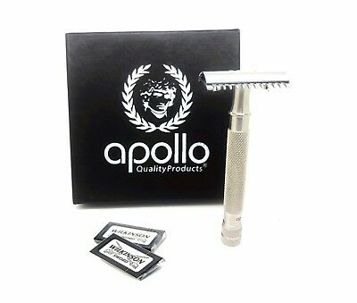 Apollo Original Double Edge Safety Razor Choose Safety HEAD Available Open Comb