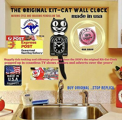 Original kit cat clock Made In USA Since 1930 Retro Vintage Clock Collectible