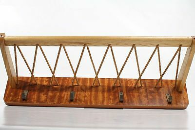 Antique Wardrobe Hangers Hat Rack Hook Rail Wood Cult Retro 50er Years