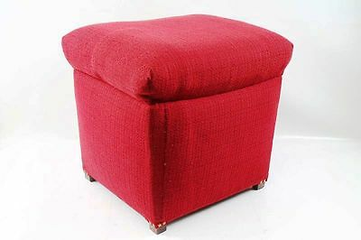 beautiful age Stool Linen chest Pouf Laundry bin Cult Retro Design red