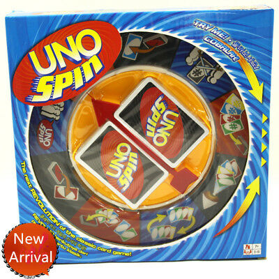 Board Game UNO SPIN Revolution Kid Adult Educational Toy Hot Fun Party Fun Gam