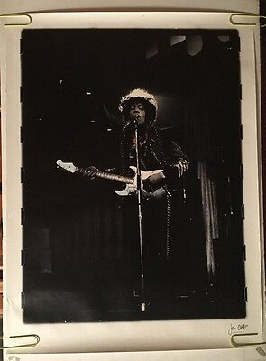 Vintage Jimi Hendrix Poster Jan Olofsson Signed Psychedelic Soldier Coat RARE