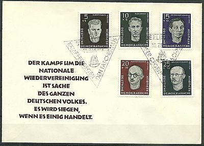 DDR FDC MiNr. 635-639 (Antifaschisten)