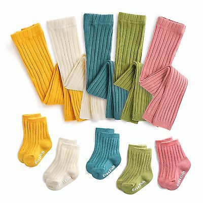 "Vaenait Baby Kids Girl Boy 5Color Anti-slip Socks ""Runrun leggings N Socks"" 0-8T"
