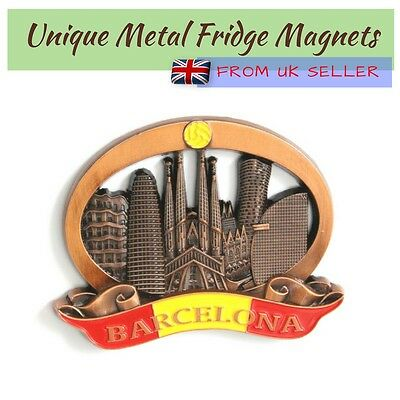 Unique Style Metal Fridge Magnet Home Decor Holiday Souvenir Gift from Barcelona