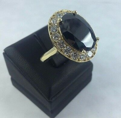 925 Sterling Silver Handmade Turkish Jewelry / Onyx Lady Ring Size 7 > 10