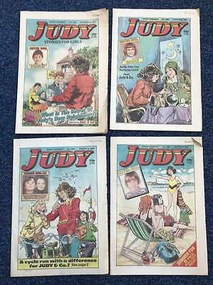 VINTAGE 1980's JUDY GIRLS PAPER COMIC MAGAZINE LOVE STORIES CARTOON