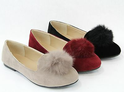5ac6a3870 Cute Women Fashion Pom Poms Fur Flats Comfort Shoes All New Spring Design