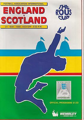 England V Scotland  ~ The Rous Cup  ~ 21 May1988