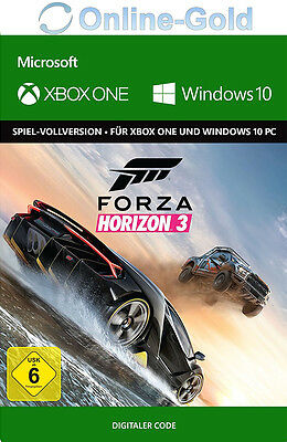 Xbox One & Windows 10 PC - Forza Horizon 3 III - Digital Download Key Code DE/EU