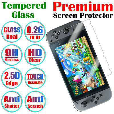 Premium Anti-Shatter 9H Tempered Glass Screen Protector Film For Nintendo Switch