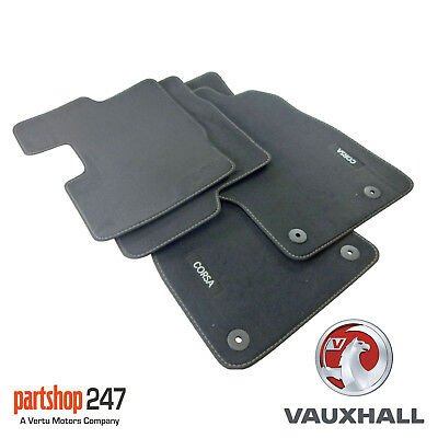Genuine Vauxhall Corsa D /MK3 Hatch Tailored Black Velour Front/Rear Carpet Mats