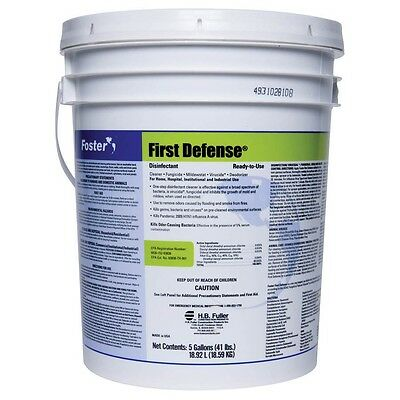Foster 5 Gallon 40-80 Pail Light Green First Defense™ Disinfectant Fungicidal