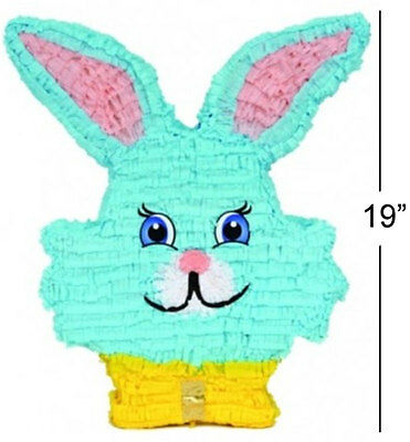 "19"" BLUE BUNNY RABBIT Easter Animal Pinata Party Game Decoration PF292E"