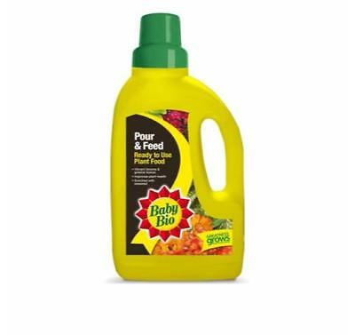 Baby Bio Pour and Feed Ready to Use Plant Food With Seaweed - 1L