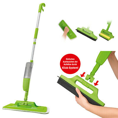 CLEANmaxx 4in1 Multifunktions Spray Mop Bodenwischer Besen Teppich Fenster