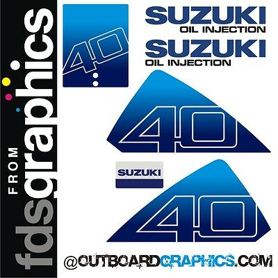 Suzuki DT40hp outboard engine graphics/sticker kit