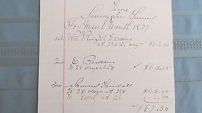 1897 Silver Plume Colorado Smuggler Mine Tunnel Miners Payroll Document-Mining