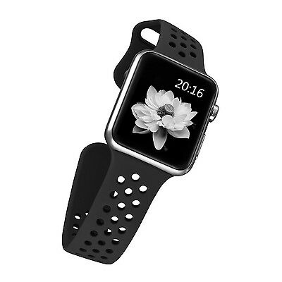 BLACK SPORT Large Wristband Band Strap Accessories For iWatch 42MM APPLE WATCH