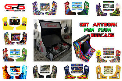 Tabletop Artwork Pack Fits Weecade - No bubble Vinyl, Back Lit Marquee PSD Incl