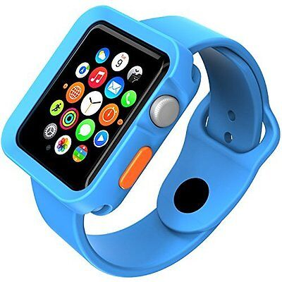 RUGGED SKY BLUE Cover Protector Case Bumper Skin For iWatch 42MM APPLE WATCH 1