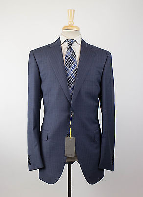 NWT CANALI 1934 Blue Striped Wool 2 Button Suit Size 50/40 L Drop 6 $1995