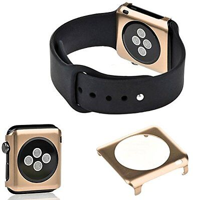GOLD ALUMINUM Cover Protector Case Bumper Skin For iWatch 38MM APPLE WATCH 1