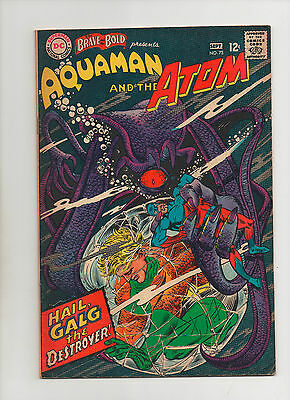 Brave & The Bold #73 - Aquaman & The Atom Galg The Destroyer - (Grade 7.0) 1967