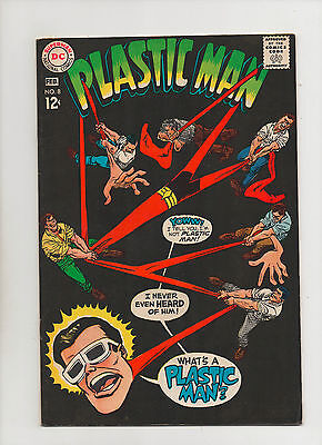Plastic Man #8 - Pulling On Plastic Man Cover - (Grade 8.0) 1968