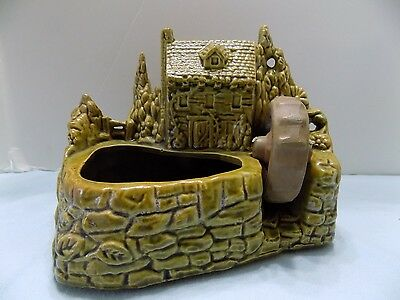 Vintage Shawnee Art Pottery Water Wheel Mill House Planter #769