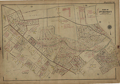1915 Gw Bromley Baltimore County, Maryland, New Maryland Country Club Atlas Map