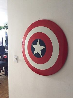 Marvel*captain America Shield*factory X*avengers*wooden Packaged Crate*2002*oop*