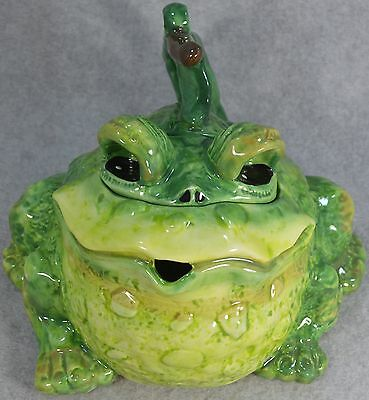 MIB Blue Sky Clayworks Toad or Frog Teapot #1908