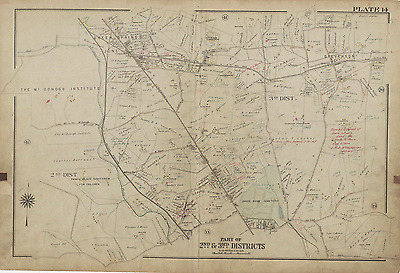 NEW MARYLAND COUNTRY CLUB ATLAS MAP 1915 GW BROMLEY BALTIMORE COUNTY MARYLAND