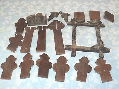 Group of 15+ Antique Wooden Pieces for Repairing Furniture