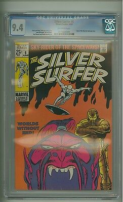 Silver Surfer #6 (CGC 9.4) O/W pgs; Tales of the Watcher; Brunner inks (c#13423)