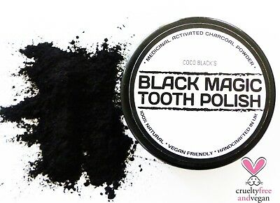 BLACK MAGIC CHARCOAL POWDER TOOTHPASTE POLISH * POWERFUL TOOTH CLEANER  50ml POT