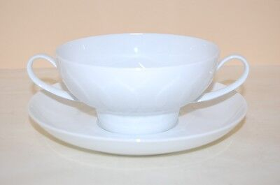 Suppentasse 2 tlg. Lotus weiss Rosenthal