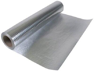 "Radiant Vapor Barrier Reflective Insulation 51"" 500 sqft Attic Foil Solid"