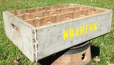 Rare Kramers Divided Soda Pop Crate advertising wood crate wooden divided case