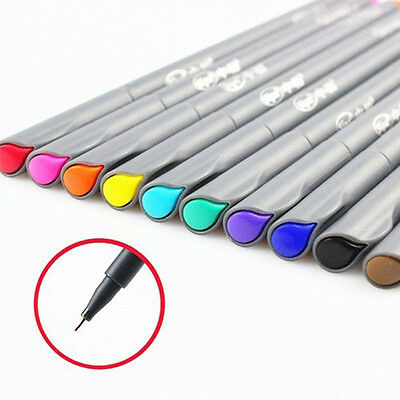 10Pcs/Set Art Supplies Brush Painting Tool Fine Line Pen Watercolor